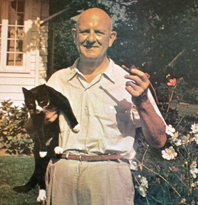 Wodehouse with cat